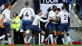 Son Heung-min struck late to deny a gallant Newcastle a point at Wembley