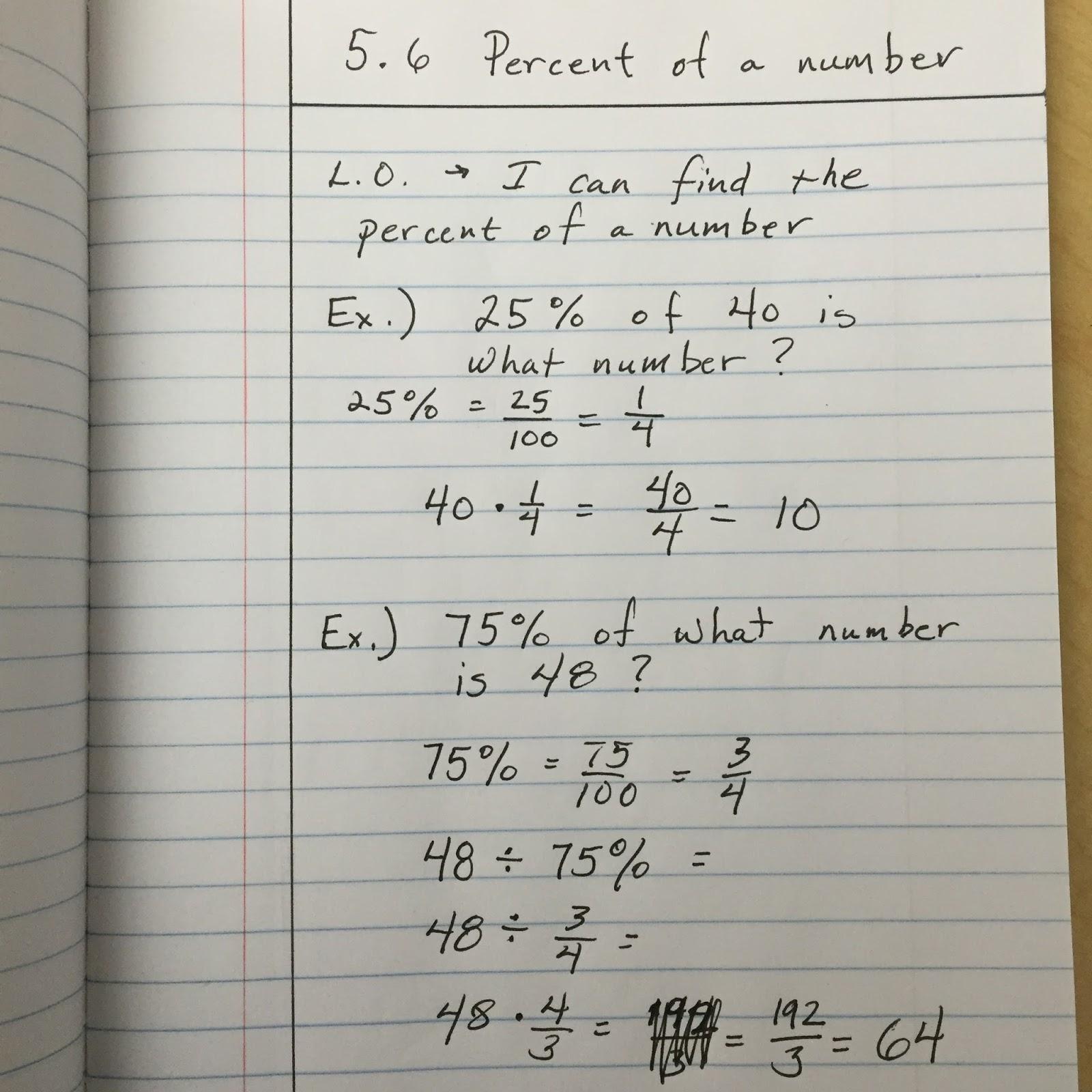 Heidemann 6th Grade Math and Science: 5.6 Notes/Video/Assignment