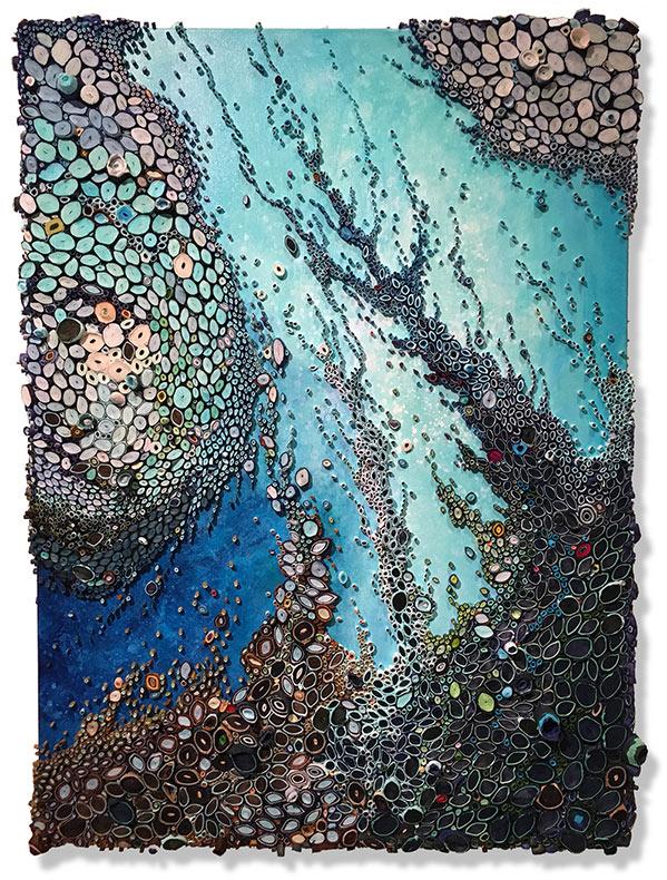 Arrecifes de océano compuesto de papel enrollado por Amy Genser