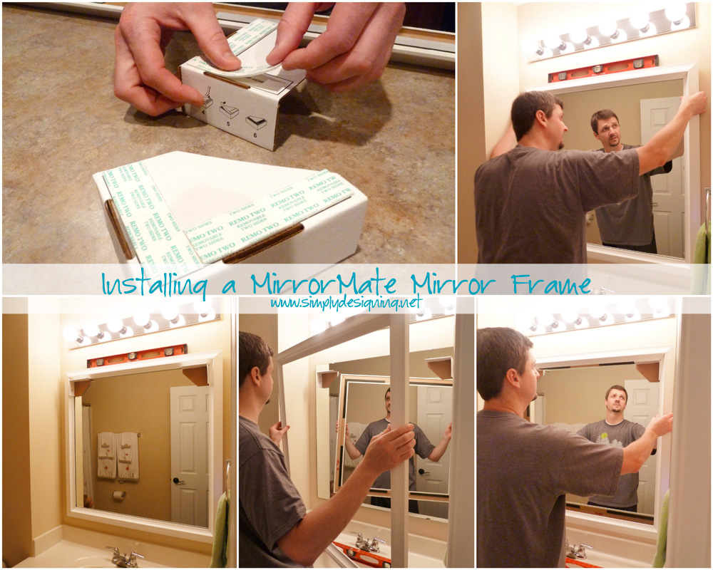 Completely new Installing Bathroom Mirror Frames QE41