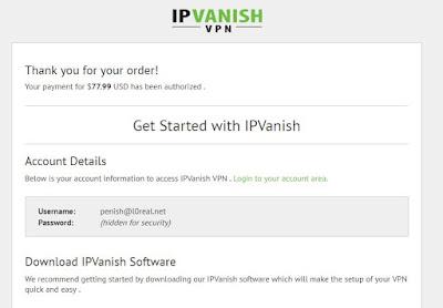 Akun VPN Gratis (IPVANISH FREE) Untuk Android dan PC