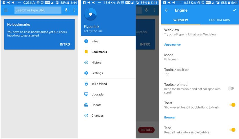 How to use Flyperlink Android browser to increase he productivity