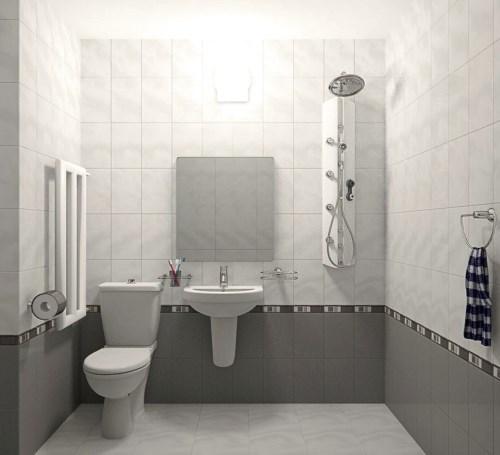 Model keramik kamar mandi kecil sederhana