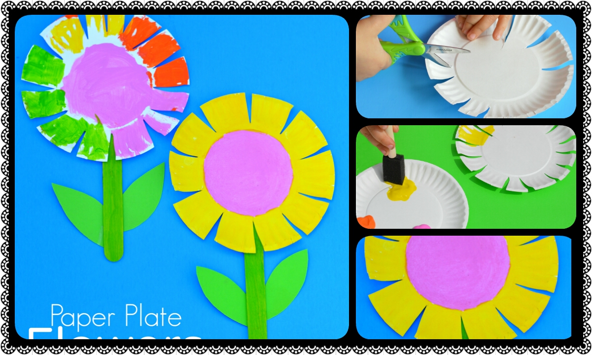 Paper plate flower craft for kids crazzy craft paper plate flower craft for kids mightylinksfo Choice Image