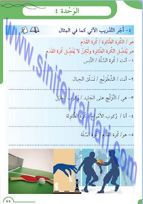 8. Sınıf Arapça Meb Yayınları Ders Kitabı Cevapları Sayfa 75