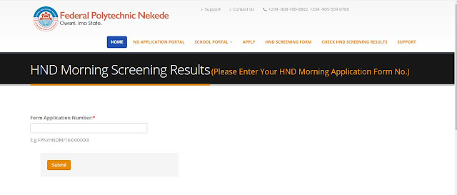 Nekede HND Screening Result is out-Know Check Your Hnd Screening Result Here