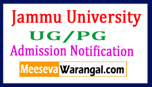 Jammu University UG/PG Admission Notification