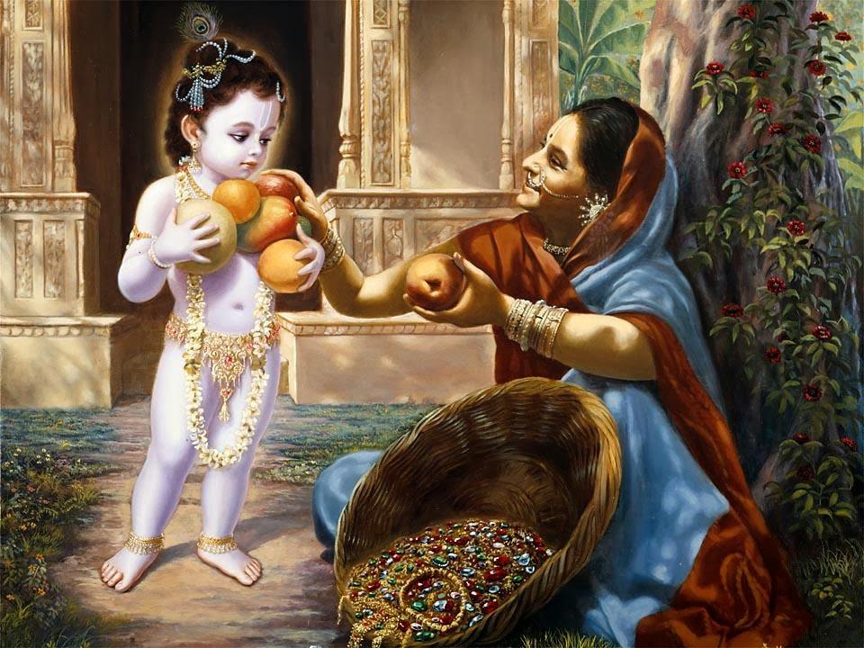 Mahabharat-Krishna-Makan-Buah-Buah-HD-gambar