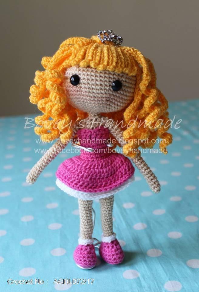 Boveys Handmade 幸福满满袋 Crochet Doll Bag Charm Katie