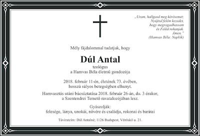 Dúl Antal, Hamvas Béla
