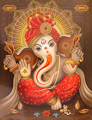 ganesha-wall-pics-imgs-in-red-dress-wallpapers