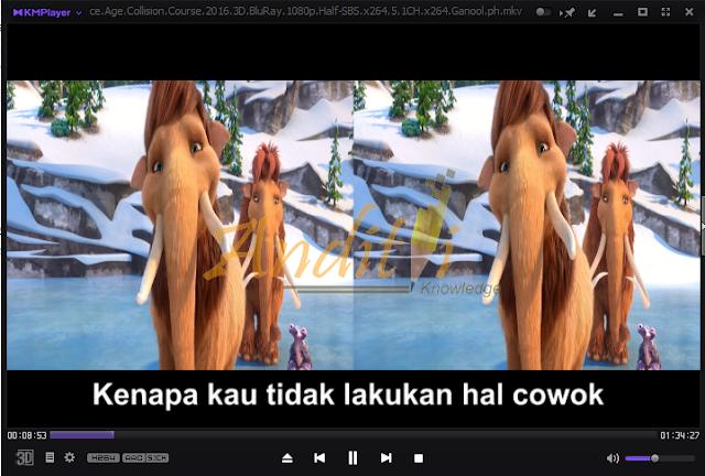Cara Mengatasi Tampilan Film yang Terbelah Menjadi Dua_anditii.web.id
