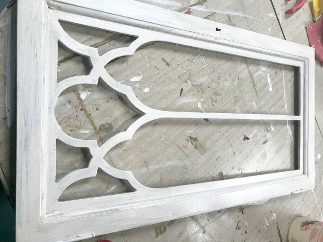 Painting a DIY Architectural Window for free