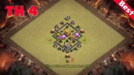 Susunan formasi coc th4 war base layout