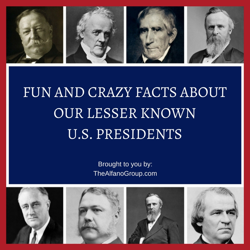 The alfano group fun facts about the lesser known u s for Fun facts about the presidents