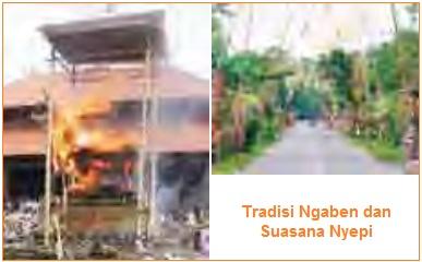 Tradisi Ngaben dan Nyepi - Peninggalan sejarah berupa tradisi atau kebiasaan yang bercorak agama Hindu
