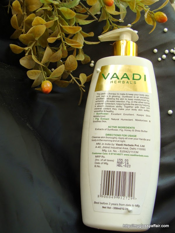 Vaadi Herbals Deep Moisturising Hand and Body Lotion with Sunflower Extract Review