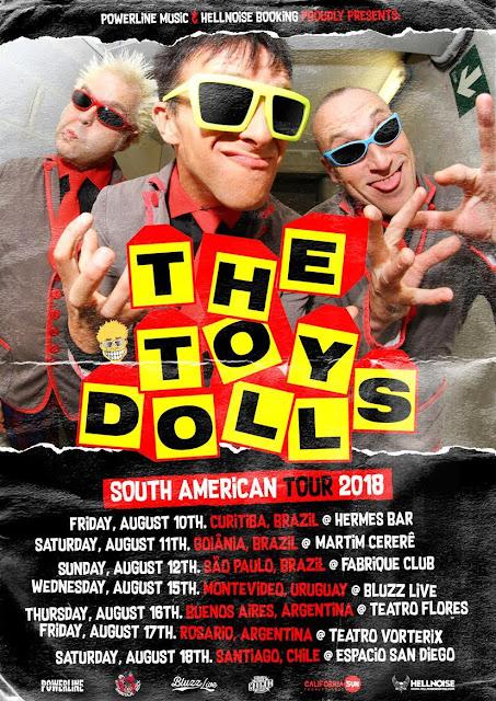 The Toy Dolls retorna ao Brasil para três shows em agosto