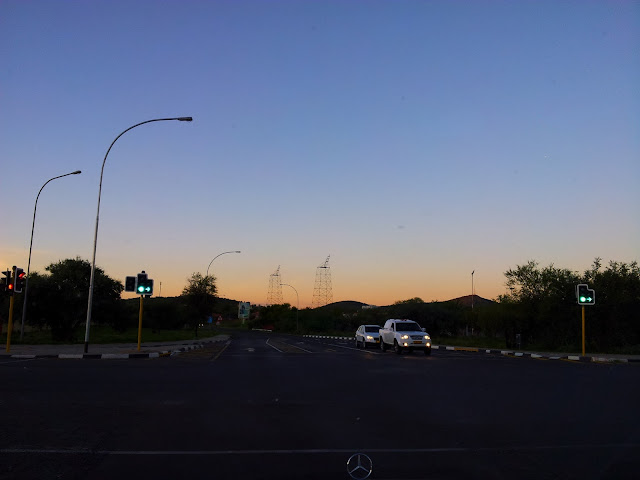 Windhoek sunset views in Namibia - January 2016