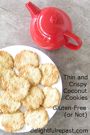 Thin and Crispy Coconut Cookies - Gluten-Free (or Not) / www.delightfulrepast.com
