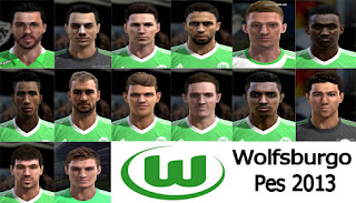 Facepack Team Wolfsburgo for Pes 2013