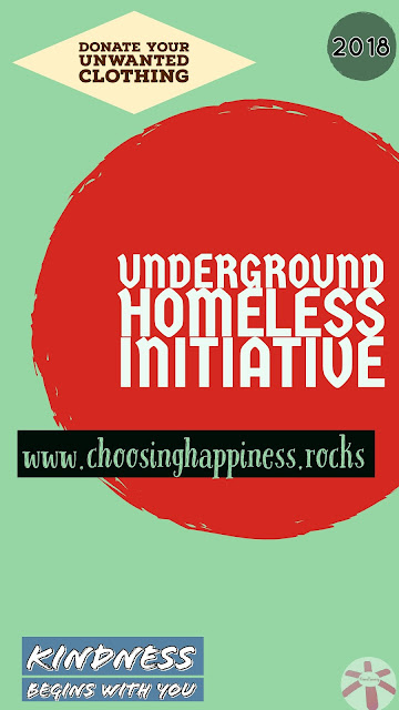 www.choosinghappiness.rocks poster for the Underground Homeless Initiative.