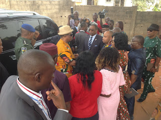 Image result for pictures of gov Obiano addressing traders