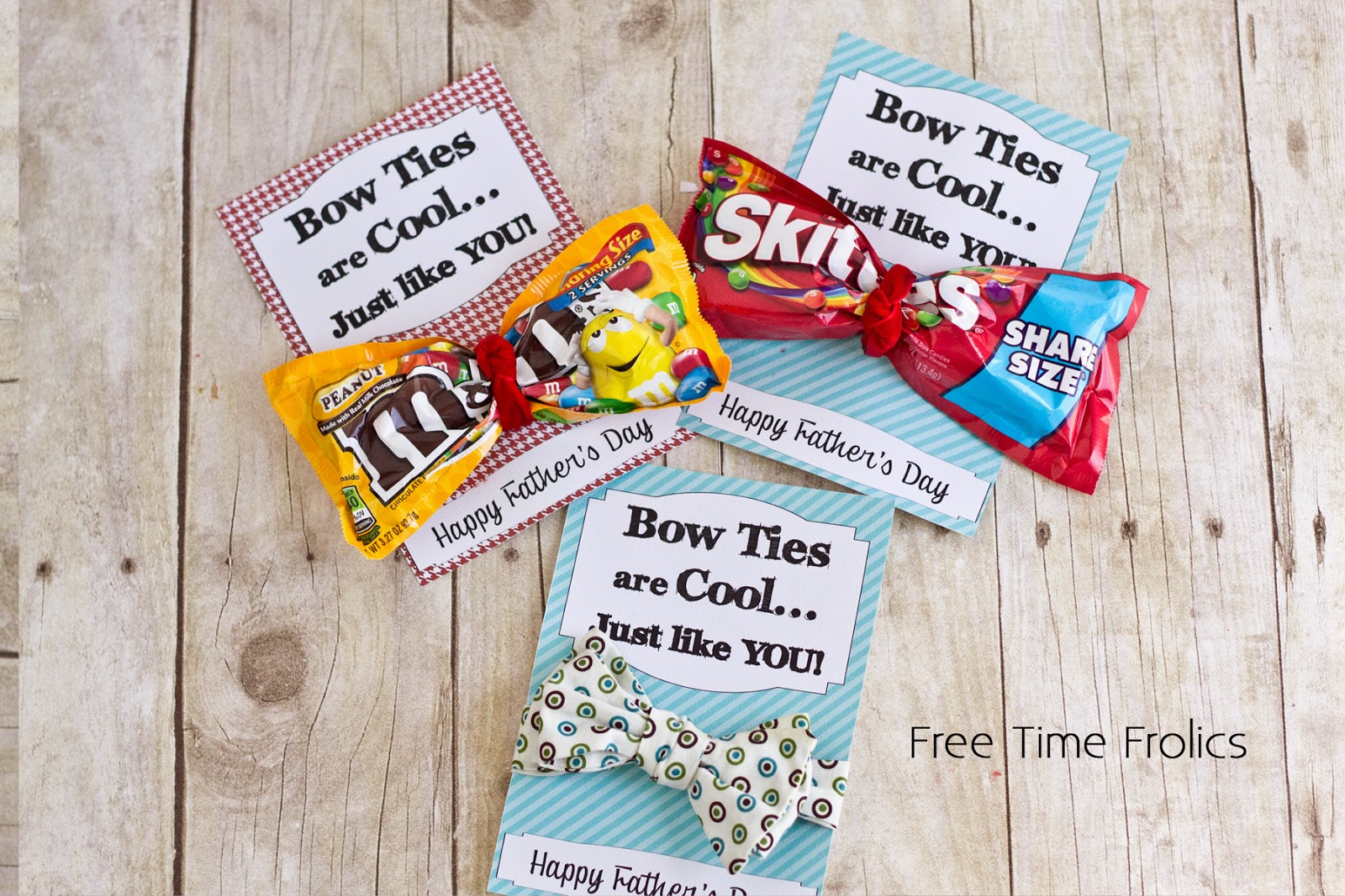 Dr who fathers day printable candy bow tie www.freetimefrolics.com #fathersday #drWho