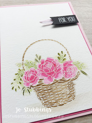 Jo's Stamping Spot - Global Design Project #127 using Blossoming Basket by Stampin' Up!