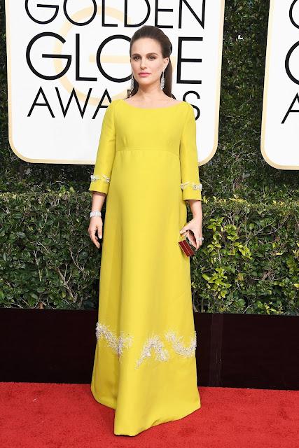 red carpet, golden globes, Natalie Portman