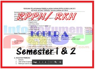 rpph paud usia 2-3 tahun semester 2 download gratis Kurikulum 2013
