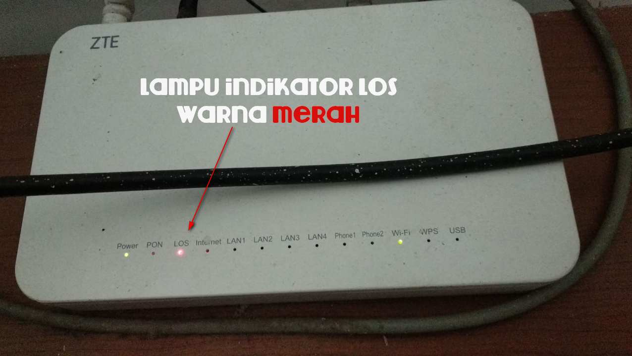Penyebab Dan Cara Mengatasi Lampu Indikator Los Warna Merah Pada Modem Wifi Indihome Wadahtekno
