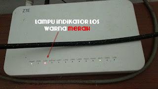Penyebab Dan Cara Mengatasi Lampu Indikator Los Warna Merah Pada Modem Wifi Indihome