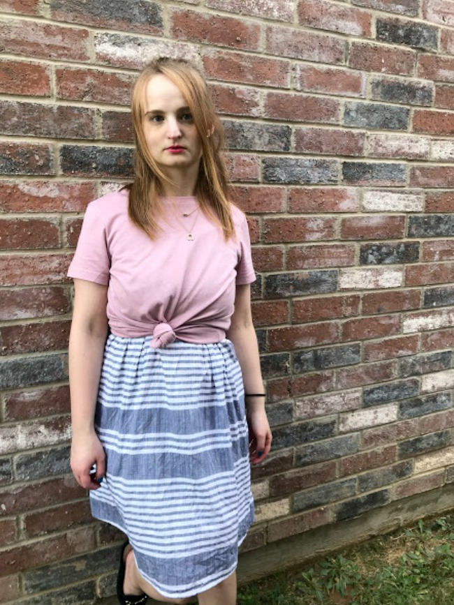 Knotted Tee and Sundress