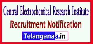 Central Electrochemical Research Institute CECRI Recruitment Notification 2017 Last Date 22-05-2017