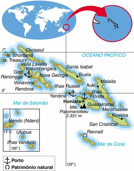 Ilhas Salomão, Aspectos Geográficos e Socioeconômicos das Ilhas Salomão