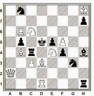 Problema de mate en 2 compuesto por J. García Llamas (3º Premio, Problemas SEPA 1970)