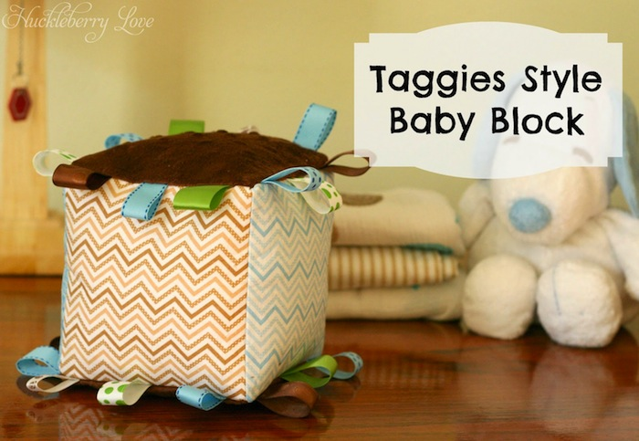 Taggies Style Baby Block #babyshower