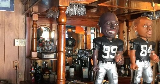 The Estate Sisters Man Cave Oakland Raiders Memorabilia