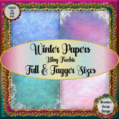 New CU4CU Blog Freebie Winter Papers