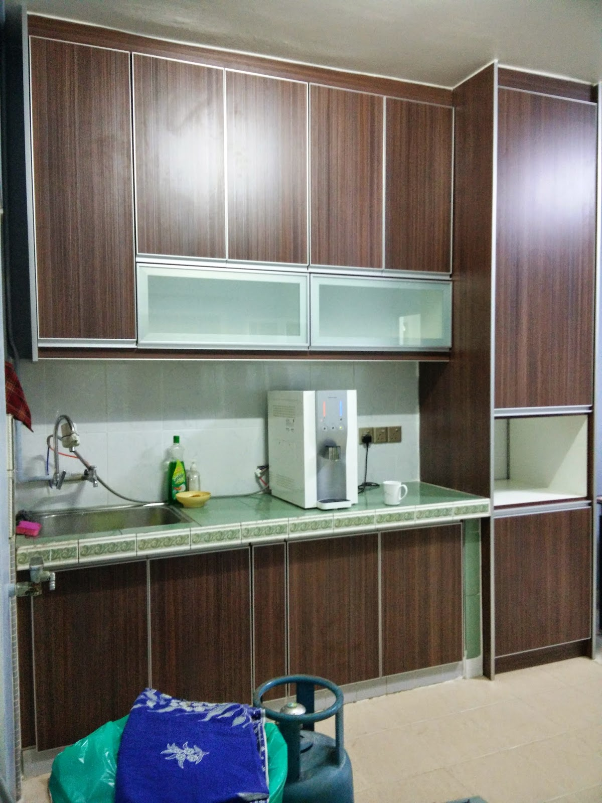 Dapur Suria Sains Desainrumahid Kitchen Cabinet Baru Basah Selepas Renovation My First Blog Tips Renovate Make Over Inium Kecil