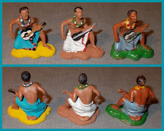 Britains Ethnic Dancers; Britains Herald; Copies; Ethnic Dancers; Hawaiian Musicians; Hawaiian Ukulele Player; Herald Ethnic Figurines; Hong Kong Novelty; Hong Kong Piracy; Hong Kong Plastic Toy; Knock Offs; Made in Hong Kong; Musicians; Piracies; Plastic Novelty; Plastic Toy Figures; Small Scale World; smallscaleworld.blogspot.com; Ukulele Player;