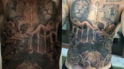 Photos of Justin Bieber's tattoo