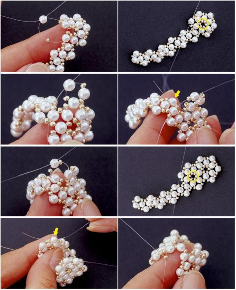 anillos, sortijas, mostacillas, perlas, bisutería, diys