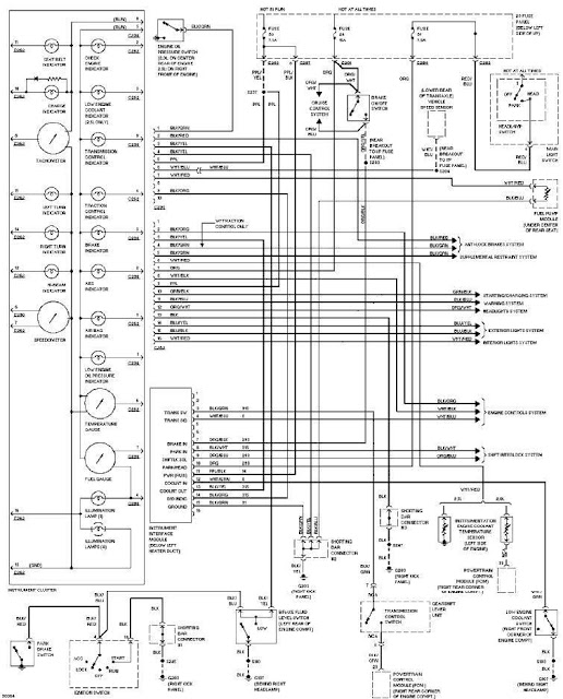 1997 ford contour instrument cluster circuit diagram