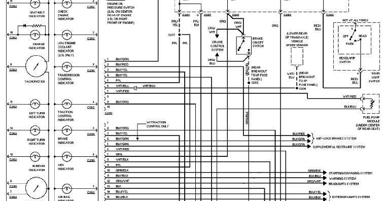 97 Ford Contour Wiring Diagram • Wiring Diagram For Free