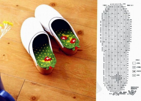 Plantilla para Zapatos de crochet con dibujos
