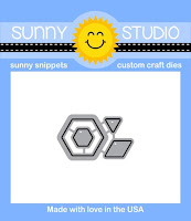 Sunny Studio Stamps: Introducing Quilted Hexagons Coordinating Dies