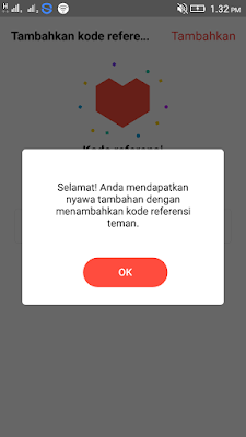 kode undangan di aplikasi t-go android