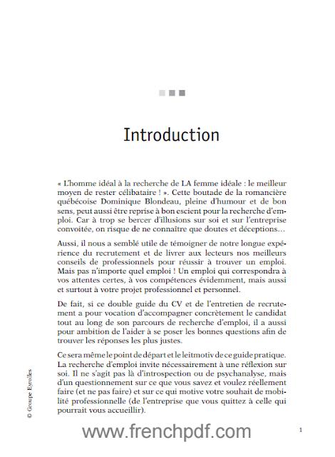 Le CV, La Lettre Et L'entretien pdf gratuit
